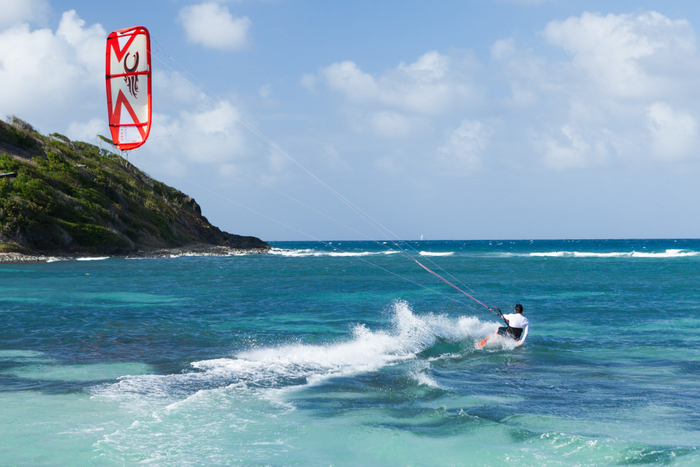 Mayreau Salt Whistle Bay Ekla Kite surf