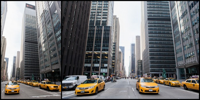 New-York Taxis Jaunes Ekla